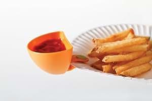 Appetitissime Snack Dipper Cuencos para Salsas, Multicolor, 7.5x4x5 cm, 4 Unidades