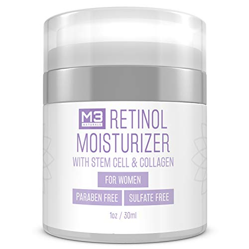 M3 Naturals Retinol Cream Face Moisturizer for Women - Anti Aging Cream with Collagen Cream and Stem Cell - Retinol Body Lotion, Facial Moisturizer, Neck Firming Cream, Wrinkle Cream for Face 1 oz