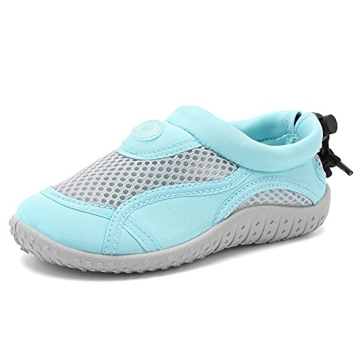 CIOR Toddlers Water Shoes Aqua Socks Athletic Swim Pool Beach Sports Quick Drying for Baby Boys and Girls(Toddler/Little Kid/Big Kid),TD397,01Aqua,22 by CIOR