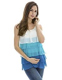 Bearsland Women's Breastfeeding and Nursing Sleeveless Summer Tee
