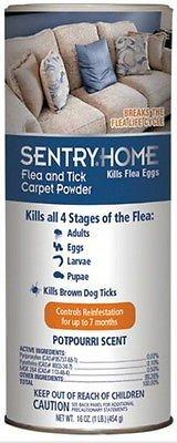 Sentry Flea and Tick Carpet Powder 16oz (Heartworm Prevention Medicine)