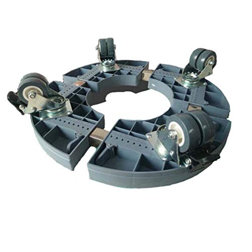 Washing Machine Base, with 4 Locking Rubber Swivel Wheels Roller Dolly, for Dryer,Washing Machine and Refrigerator