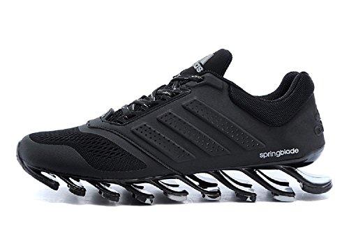 adidas Springblade 4, Zapatillas de running para hombre, 7 US, Negro / Gris