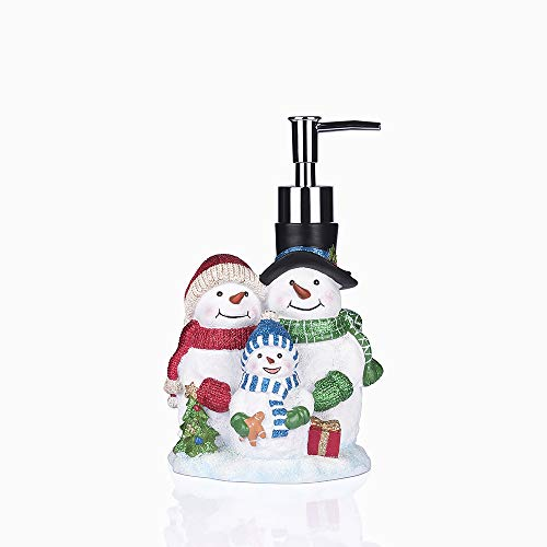 Greendisplay Christmas Snowman Family Soap/Lotion Dispenser (Dispensers Soap Christmas)