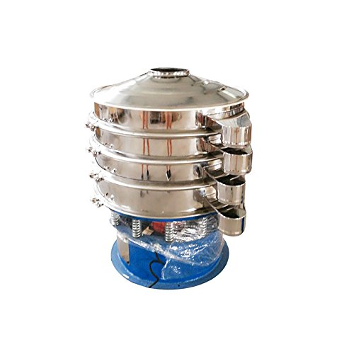 220V 750W Electric 31.5'' Diameter Three Layers Stainless Steel Powder Vibrating Machine Shaker Screen