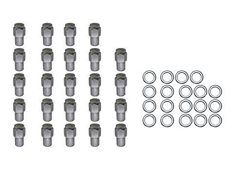 24 Pc Set Chrome Steel Mag Shank Lug Nuts 12Mm X 1.25 For Nissan Datsun Older Alloy Wheels ()