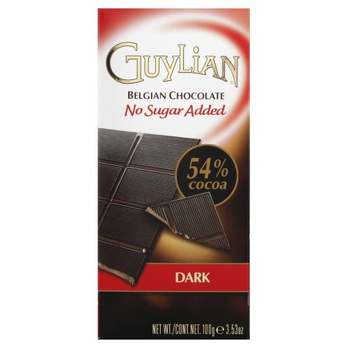Guylian No Sugar Added Dark Chocolate Bar 3.5 Oz.