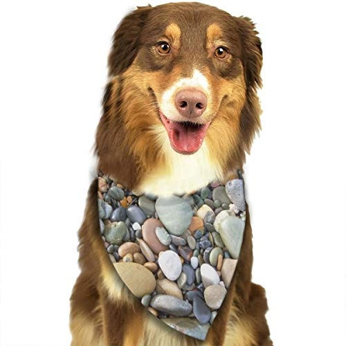 OURFASHION Pebble Stone Pattern Bandana Triangle Bibs Scarfs Accessories for Pet Cats and Puppies
