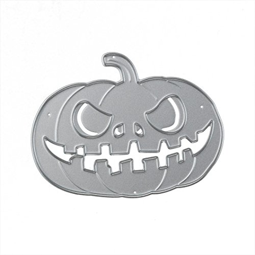 Staron Halloween Pumpkin Design Metal Cutting Dies Stencil,Die Cuts Embossing Stencil Template Mould For DIY Handmade Card Scrapbook Album Paper Craft (H)