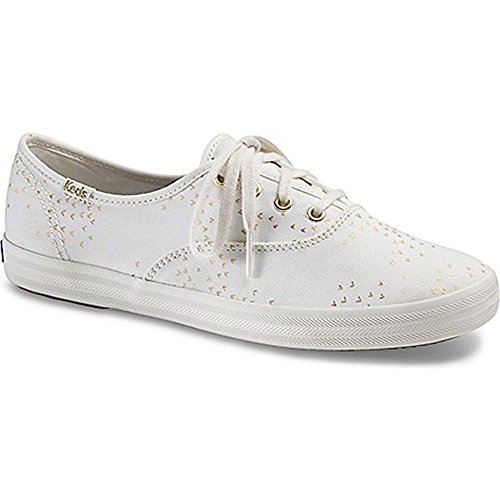 Keds Women's Champion Eyelet Sneaker (6.5 B(M) US, (Mini Bird) Cream/Gold) (Eyelet Name White)