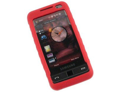 - Phone Protector Silicone Gel Skin Red Case For Samsung Omnia i910