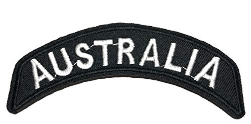 Australia Embroidered Patch Tactical Military Morale Biker Motorcycle Quote Saying Humor Series Iron or Sew-on Emblem Badge Appliques Application Fabric Patches