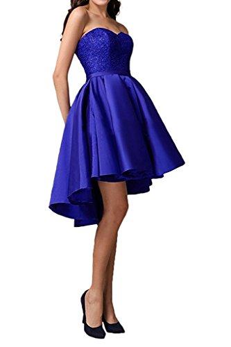 Damen Partykleider Abendkleider Knielang Linie Gruen Promkleider Spitze Jaeger Blau Marie Royal La Rock A Satin Braut pwvUqIBxf