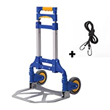 Portable Folding Aluminum Hand Truck Luggage Carts Dolly Capacity heavy duty