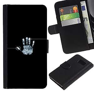 """A-type (Identidad Fingeprint"""") Colorida Impresión Funda Cuero Monedero Caja Bolsa Cubierta Caja Piel Card Slots Para Sony Xperia Z1 Compact / Z1 Mini (Not Z1) D5503"""