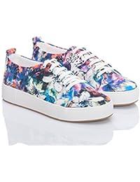 Women's Sneaker Comfort Footwear, Canvas Printed Fashion...