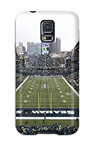 Tpu Case Cover For Galaxy S5 Strong Protect Case - Seattleeahawks Design