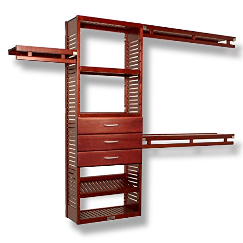 12in. Deep Simplicity Organizer - 3 Drawers (8in. Deep) Red Mahogany Finish - John Louis Home Deluxe Tower