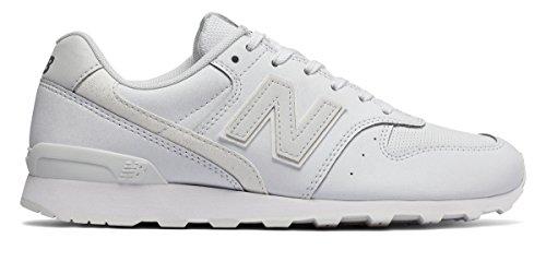 メダル逆さまに柔らかい足(ニューバランス) New Balance 靴?シューズ レディースライフスタイル 696 Metallic Silver with White メタリック シルバー ホワイト US 10 (27cm)