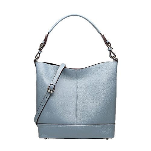 Women Fashion Blue Leather Bag Shoulder Handbag LxWxH Q0889 Casual Dissa 30X12X31CM wxa5qHTa