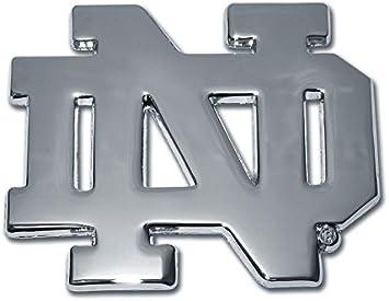 Leprechaun Many Available! The University of Notre Dame Metal Auto Emblem