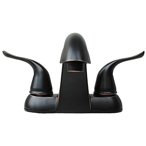 Builders Shoppe 2025TB Two Handle Centerset Lavatory Faucet with Pop-Up Drain, Oil Rubbed Bronze Finish good