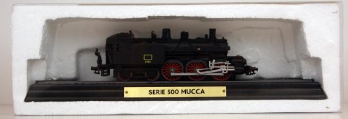 Modelleisenbahn - Standmodell - Atlas - Serie 500 MUCCA - Lokomotive - Massstab H0 / 1:87 - Länge der Lok ca 16 cm - auf Schienenstück