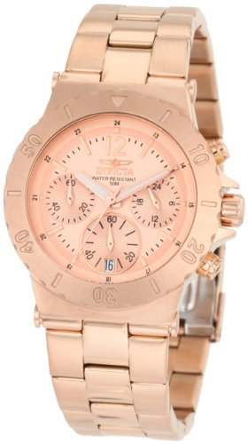 Chronograph 18k Rose - Invicta Women's 1277 II Collection Chronograph 18K Rose Gold Ion-Plated Stainless Steel Watch