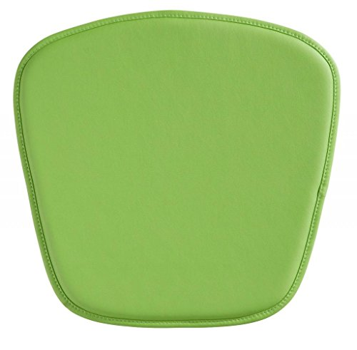 Modern Contemporary Cushion Pillow, Green Leatherette by America Luxury - Chairs