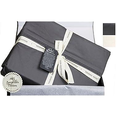 Thomas Gene, 100% Egyptian Cotton - Luxury - 1000 Thread Count - Deep Pocket - Sateen - Sheet Set (King, Charcoal)