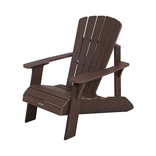 Lifetime 60289 Adirondack Chair, Rustic Brown (The Best Adirondack Chair Review)