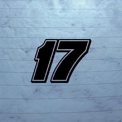 BLACK WALL DIE CUT HELMET NOTEBOOK CAR WINDOW DECOR BIKE MATT KENSETH # 17 HOME DECOR WALL ART DECORATION VINYL STICKER DECAL MACBOOK CAR ART ADHESIVE VINYL NASCAR LAPTOP - Matt Kenseth Wall