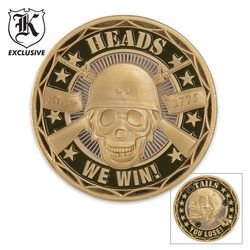 Heads Win/Tails Lose Challenge Coin, Outdoor Stuffs