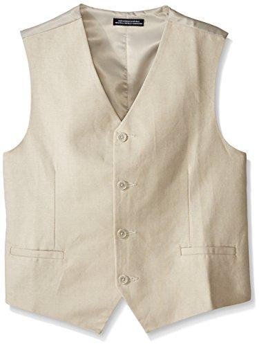 Nautica Big Boys' Linen Vest, Stone, Small