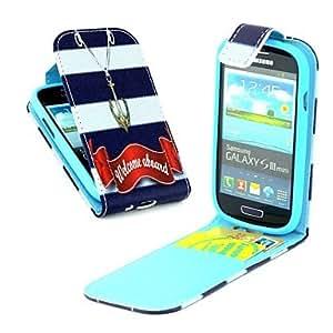 WQQ Teléfono Móvil Samsung - Carcasas de Cuerpo Completo - Gráfico/Diseño Especial - para Samsung S3 Mini I8190N ( Multi-color , Cuero PU )