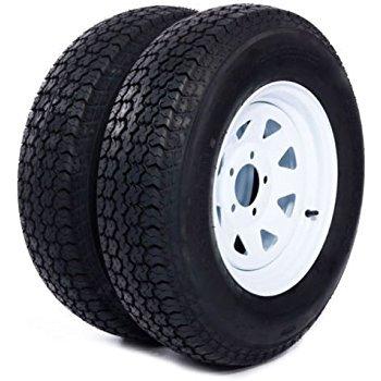 Hole White Spoke - 2-Pack Trailer Wheel & Tire #426 ST205/75D14 205/75 D 14