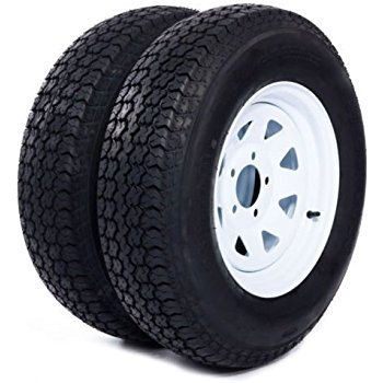 2-Pack Trailer Wheel & Tire #426 ST205/75D14 205/75 D 14″ LRC 5 Hole White Spoke