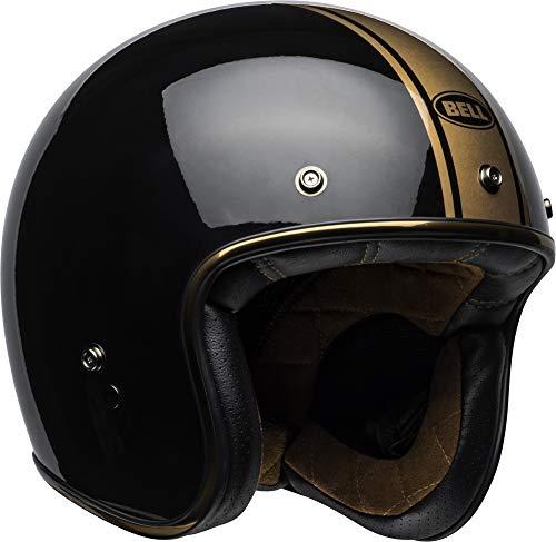 Bell Custom 500 Open-Face Motorcycle Helmet (Rally Gloss Black/Bronze, X-Large)