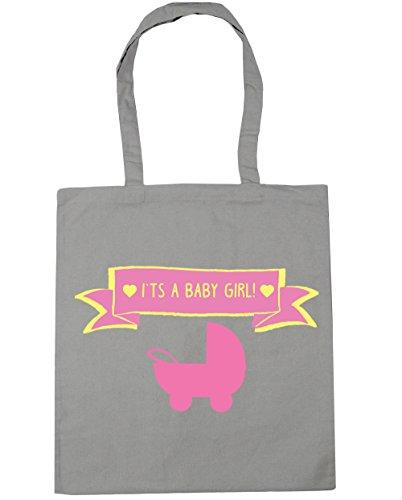 HippoWarehouse se trata de un bebé niña Tote Compras Bolsa de playa 42cm x38cm, 10litros gris claro