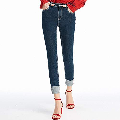 Punkte XS rdeln Jeans Femme rper MVGUIHZPO Jeans B und Taille Kleine Jeans reparieren K neun Neue Taille hohe xaznwTq