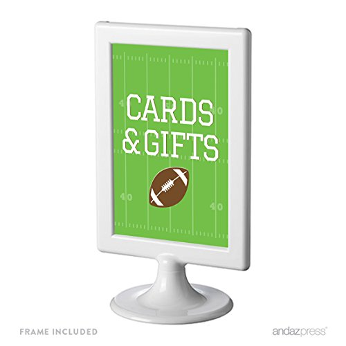 Andaz Press Birthday Framed Party Signs, Cards & Gifts, Football Touchdown! Party, 1-Pack, 4x6-inch, Includes Frame