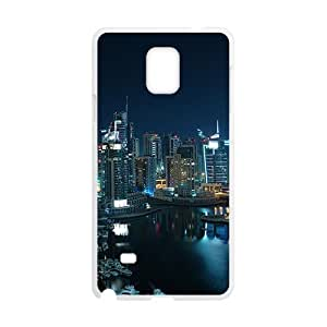 City Night White Phone Case for Samsung Galaxy Note4