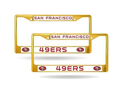 49ers license plate frame metal - 9