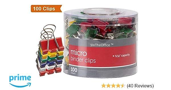 599185ac5f3cc Amazon.com   1InTheOffice Multicolored Binder Clips