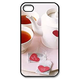 Afternoon Tea Brand New Cover Case with Hard Shell Protection for Iphone 4,4S Case lxa#412015