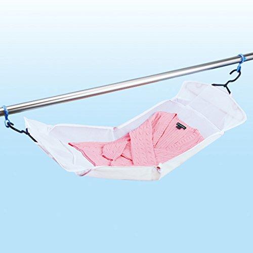 ダイヤコーポレーション 洗濯 物干し 平干しネット&フック 70x47cm 洗って干せる