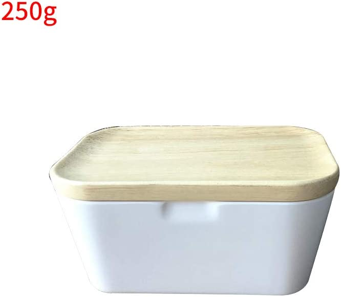 225g ABEDOE Piatto di Burro con Coperchio in Legno Porta Burro Resistente al Calore per la Conservazione del Burro da Cucina