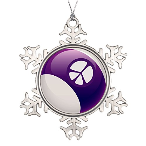 Moc Moc Tree Decorating Ideas PEACE SIGN BILLIARDS BALL Monogrammed Christmas Snowflake Ornaments Personalized Christmas Decorations -