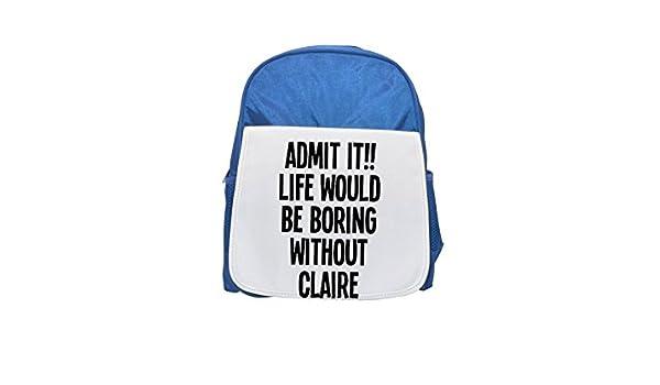 LIFE WOULD Be BORING WITHOUT - Mochila para niños estampada, mochila de color azul, mochilas lindas, pequeñas mochilas, mochila negra, mochila negra fría, ...