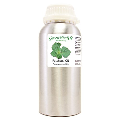 GreenHealth Patchouli – 16 fl oz (473 ml) Aluminum Bottle w/Plug Cap – 100% Pure Essential Oil